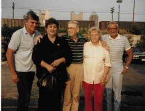 The same Appalachian family c. 2001 L-R Joe, Elsie, Bob, Della and Bernie Wells