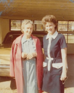 Mom (Della's mother-in-law but what we called her) and Norma Jean Welsh 1974