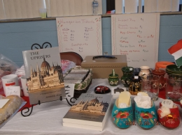 Display Table featuring my book The Uprisers